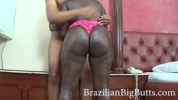 BrazilianBigButts.com Slapping This Thick Black Ass