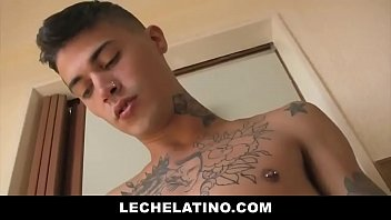 Inked Latin Cocksucker Takes RAW Dick