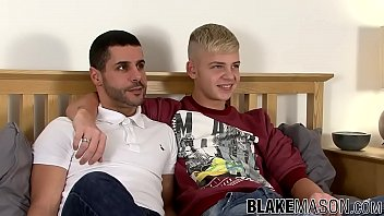 Blond twink Alex Silvers forms 69 before riding cock