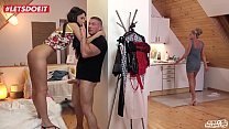 KINKY INLAWS - #Angie Moon - A Good Father Always Helps His Russian Teen Stepdaughter 11 min