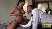 Spanked real sub squirts 12 min