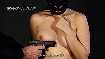 Masked slut with nice big tits severely whipped