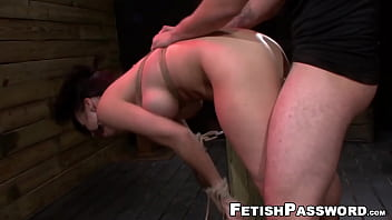 Tied Kimmy Lee b. throat fuck and penetration