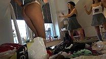 Try On Tiniest Thongs, Lingerie, Spandex See Through Leggings 5 min