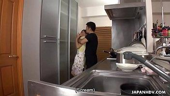 Japanese housewife, Erena Yamamoto got gangbanged in her home, uncensored 59 sec