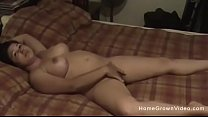 Homemade video of my thick wife playing and fucking 10 min
