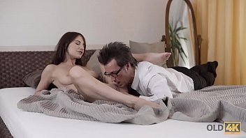 OLD4K. Daddy is happy to see his pretty babe and fucks her hard