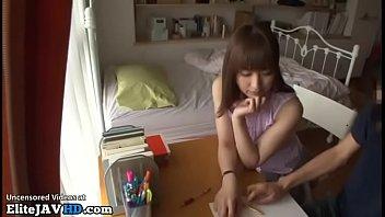 Japanese home teacher fucking shy student 23 min