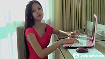 Teasing Asian beauty gets penetrated without mercy 33 min