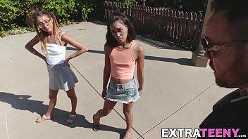 Latina teen threesome big cock banging with Aria Skye