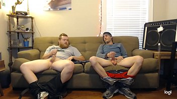 This guy said he was straight, but didn't act like it when jerking off with this other dude on secret cam 12 min