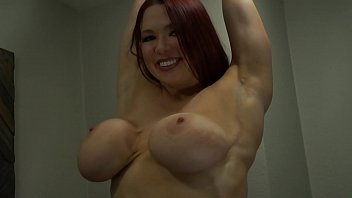 Busty Redhead Slut Cums With Glass G-Spot Toy