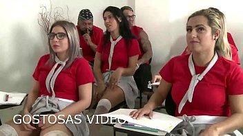 Voltando a facudade pós quarentena muita putaria - Mia linz jota Sara Rosa