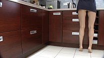 Bottomless dance in the kitchen pussy revealing 83 sec