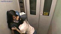 lesbians meet up in an elevator