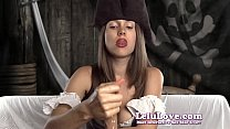 This female pirate is ready to give a rough dildo handjob ARRRGGGHHH