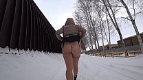 I love to walk without panties in public places and show my big ass and hairy pussy. Compilation fetish exhibitionism.