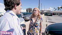 Trickery - April O'Neil tricked into sex with a security guard 12 min
