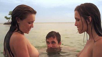 2 Headed Shark Attack: 2 Topless Bikini Girls 3 min