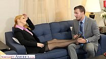 Naughty America - Penny Pax gives her intern a fuck of his life