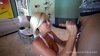 Busty MILF Sucks And Swallows Young BBC 5 min