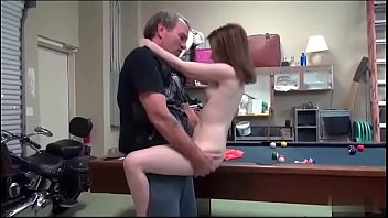 Daddy fucked me standing then bent me into the pool table 8 min