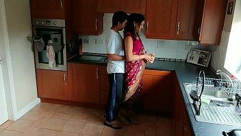 Red saree Bhabhi caught watching porn seduced and fucked by Devar dirty hindi audio desi chudai leaked scandal sextape bollywood POV Indian 25 min