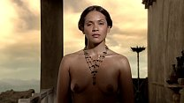 Lesley-Ann Brandt - Has cloth flipped down, exposing breasts - (uploaded by celebeclipse.com) 39 sec