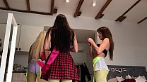 Non Nude Teens at Home Dancing like No Tomorrow Voyeur Soft 7 min