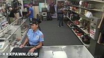 XXX PAWN - Pervy Pawn Shop Owner Fucks Latin Police Officer 12 min