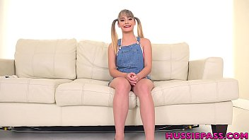 Tiny 18 year old Anna Mae gets wrecked in first porn