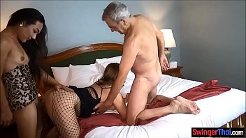 Amateur couple find and invite a ladyboy for a cuckold