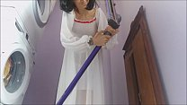 Aunt Chantal is a good housewife but sometimes she lingers too much with the vacuum cleaner