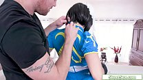 Sexy cosplayer assfucked by her guy 7 min