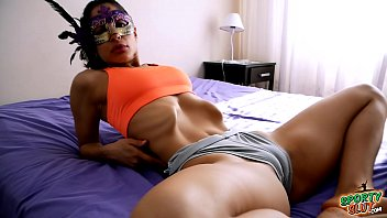 INCREDIBLE Body Skinny Latina has Sexiest Ass n Cameltoe. Insane Skinny!