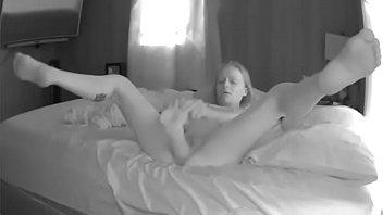 Jennifer Swanson  whore fucks huge dildo in  her loose gaping pussy