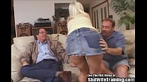Blonde Housewife Creampie Swallows for Cucky Hubby 5 min