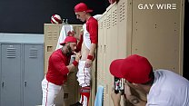 GAYWIRE - Tristan Hunter Gets Fucked In The Locker Room By Coach Eddy Ceetee
