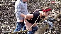 MyDirtyHobby - Big ass curvy teen gets an outdoor creampie in the woods