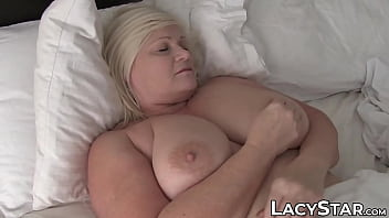 UK GILF Lacey Starr stuffed by two huge cocks in threeway 10 min