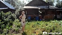 Sexy outdoor action with a busty hot MILF 12 min