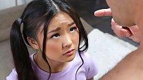 Tiny asian schoolgirl gets caught messing around - teen porn