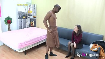 Babe came only to hire a stripper, but SHE HAD TO TRY DAT BLACK COCK! 46 min