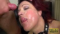 Dominated milf redhead gets mouth fucked 8 min