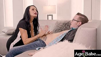Rita Daniels gave her first blessing and start sucking Johnnys cock until Alison Rey caught them in act