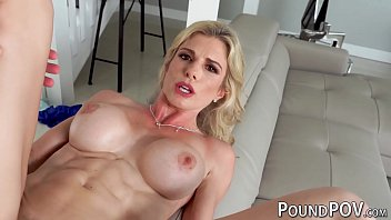 Athletic blonde MILF Cory Chase sucks dick and fucked in POV