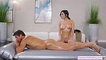 Teen gives her stepdad full nuru massage 6 min