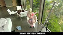 ExxxtraSmall - Petite Fat Ass Blonde Allie Nicole Gets Her Tight Pussy Pounded