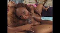 Cute ebony babe Skyy Black enjoys her wet cunt banged hard by a huge hard pole 31 min