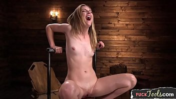 Smalltits beauty squirts while dildo fucked 10 min